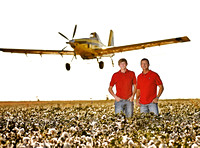 Newsom Farm Cotton Crop and Crop Dusters 2011