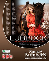 Lubbock Names and Numbers Phone Book Cover 2011